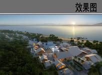 西岛珊瑚村鸟瞰图