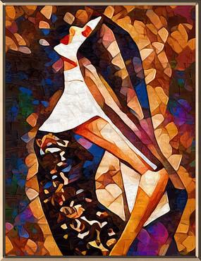修女装饰油画