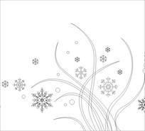 雪花朵朵雕刻图案