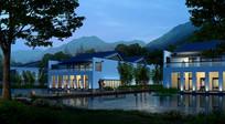 中式别墅建筑景观