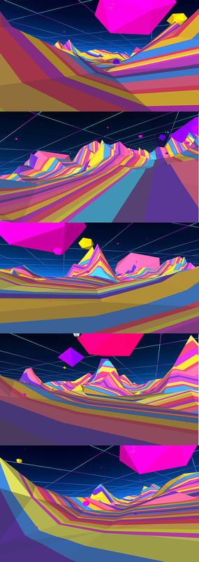 3D空间缤纷色彩动感舞台
