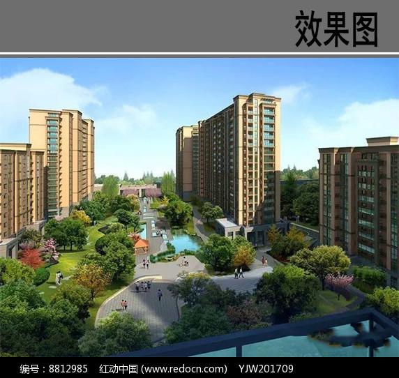 城市住宅区鸟瞰图图片