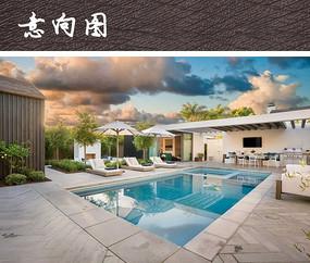 度假别墅泳池景观