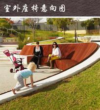 公园木质树池座椅 JPG