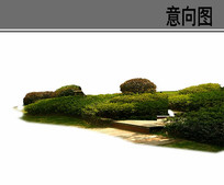 灌木植物组团ps素材