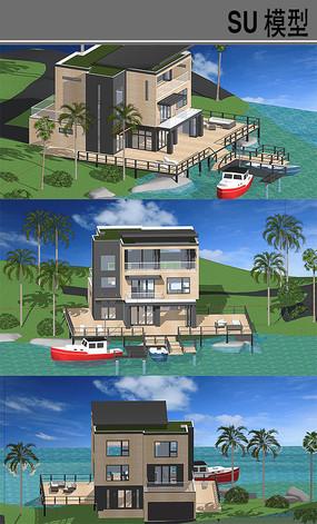 海边别墅建筑