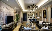 黑白花纹客厅装修设计