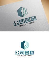 简约风格科技感企业logo