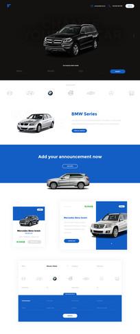 简约风格汽车官网首页设计 PSD