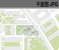 建筑环境设计彩色平面