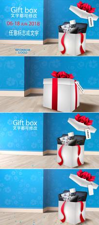 节日礼品盒跳舞动画视频模板
