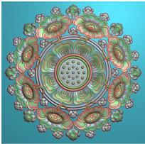莲花圆形图案
