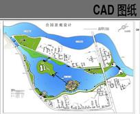 某滨河公园景观设计平面图