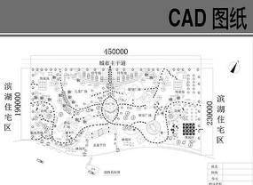 某滨水景观道路系统图 dwg