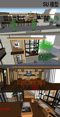 木质框架别墅 skp