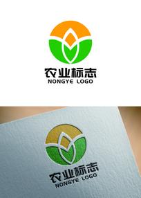 农业产业农产品商标logo AI