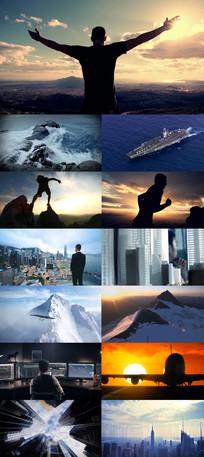 企业文化发展励志类视频素材 mp4