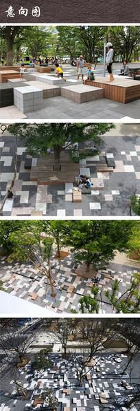 日本平成大学休闲座椅广场 JPG