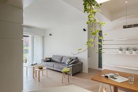 日式平房住房客厅效果图
