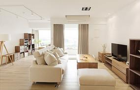日式小清新住宅客厅效果图