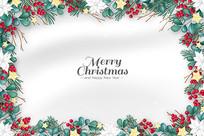 圣诞节展板背景矢量素材