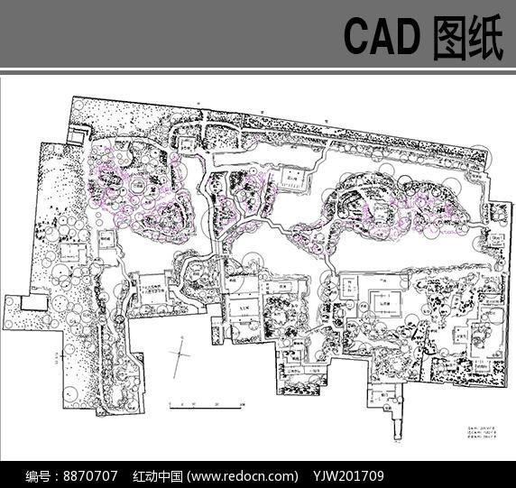 苏州园林之拙政园平面图