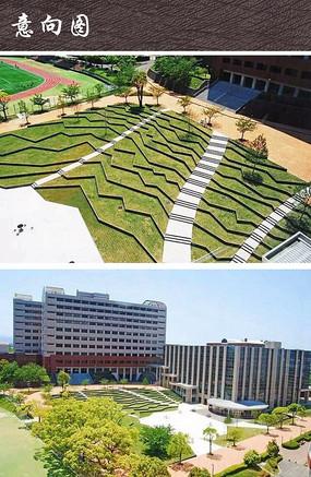 梯田式校园广场景观