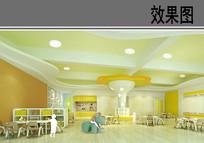 温馨幼儿园教室效果图 JPG