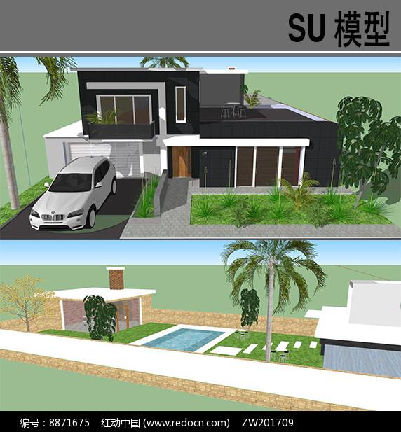 现代别墅模型图片
