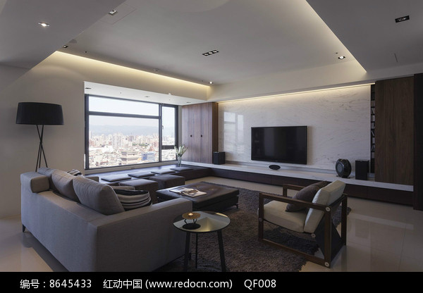 现代复式住宅客厅图片