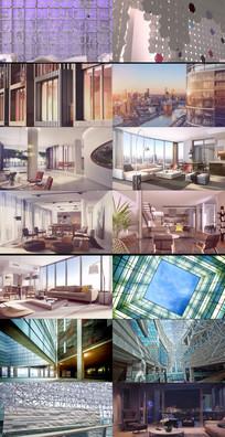 现代时尚室内装饰动态视频