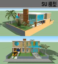 现代住房 skp