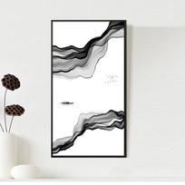 新中式抽象水墨山水画装饰画