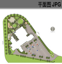 幼儿园建筑环境彩色平面图