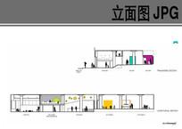 幼儿园建筑内部布局立面图