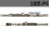 幼儿园建筑设计东西立面图