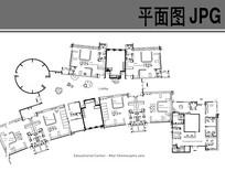 幼儿园建筑设计内部布局平面图 JPG