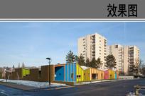 幼儿园建筑外观效果 JPG
