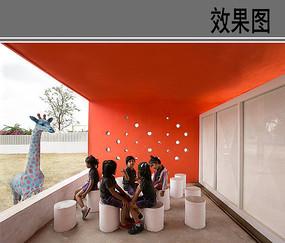 幼儿园建筑休息区设计效果