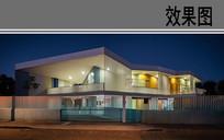 幼儿园建筑夜景效果图