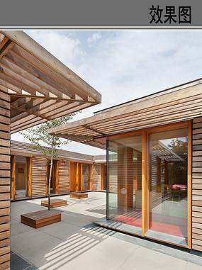 幼儿园建筑中庭休闲空间