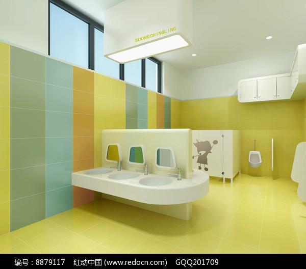 幼儿园卡通厕所效果图图片