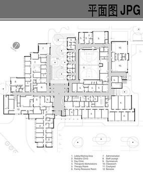 幼儿园首层布局平面图