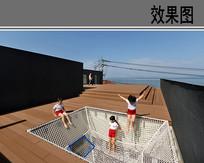幼儿园屋顶活动空间透视效果