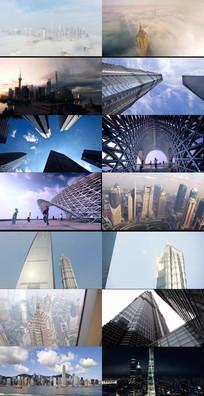 中国高楼大厦合集动态视频