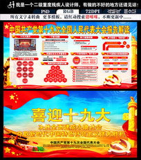 中国共产党十九大宣传展板
