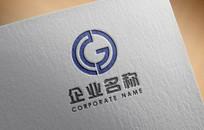 字母G机械阀门logo设计