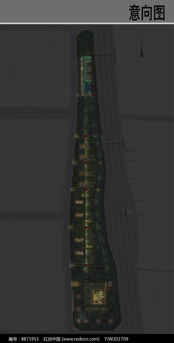 21地块公园景观夜景设计图图片