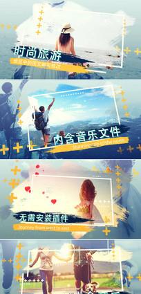 ae旅游电子相册片头模板