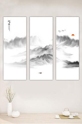 抽象水墨山水装饰画